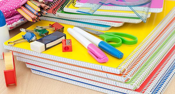 You can buy school supplies online