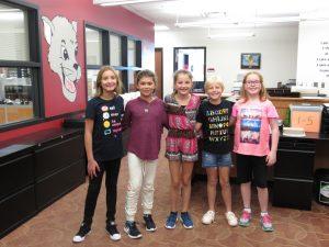 Fifth Grade Pledge Leaders